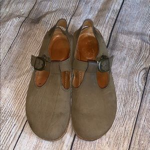 Tan shoes with buckle